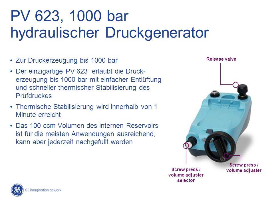 PV 623, 1000 bar hydraulischer Druckgenerator