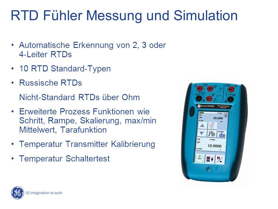 RTD Fühler Messung und Simulation