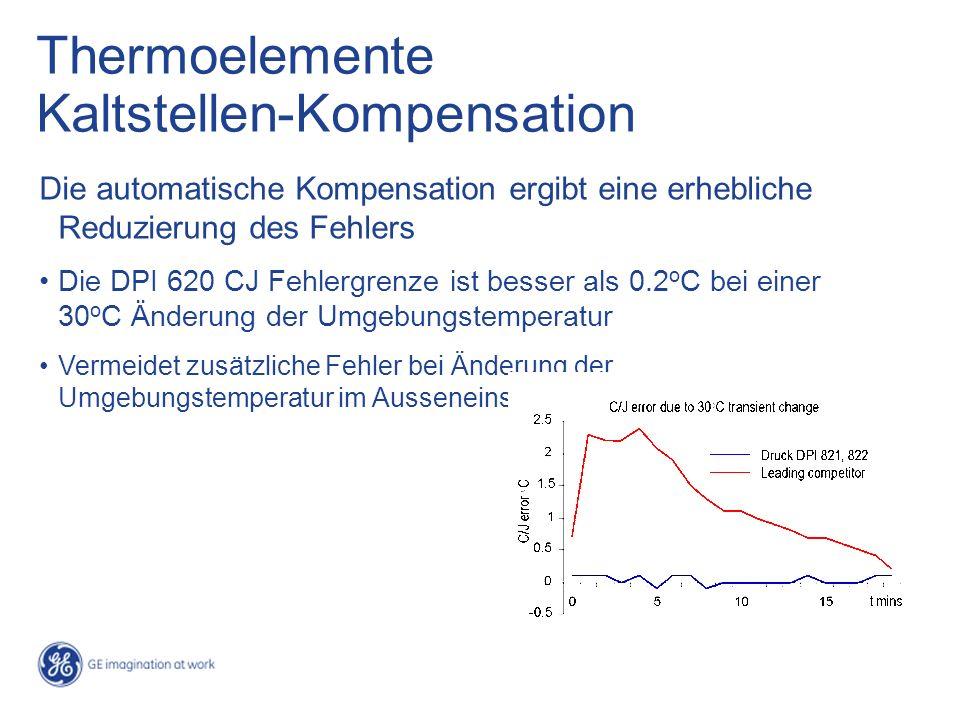 Thermoelemente Kaltstellen-Kompensation