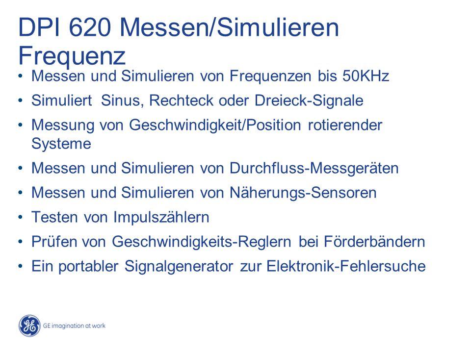 DPI 620 Messen/Simulieren Frequenz