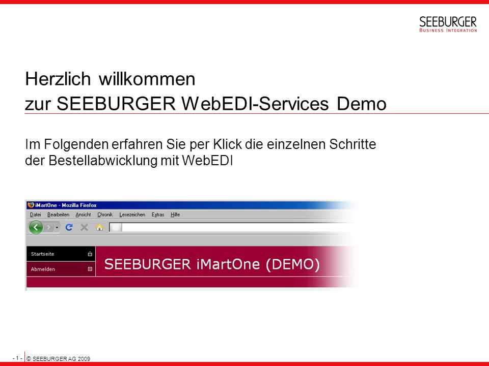 Herzlich willkommen zur SEEBURGER WebEDI-Services Demo