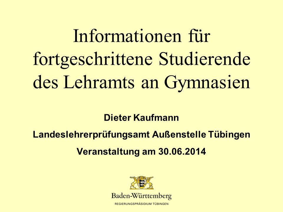 Landeslehrerprüfungsamt Außenstelle Tübingen