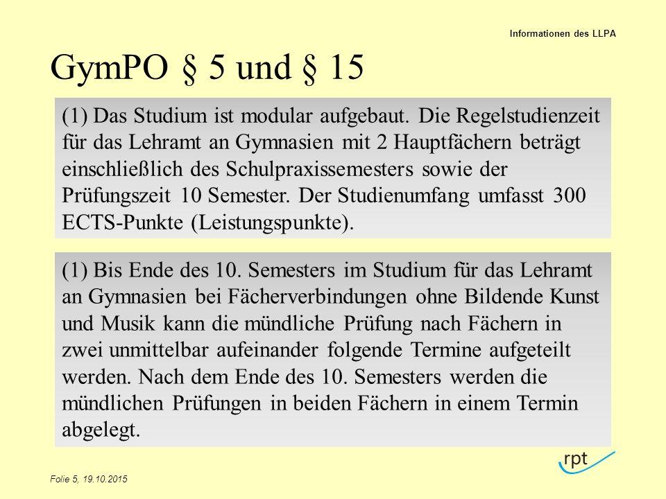 Informationen des LLPA