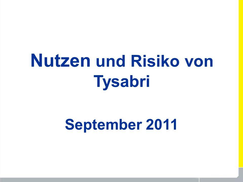 Nutzen und Risiko von Tysabri