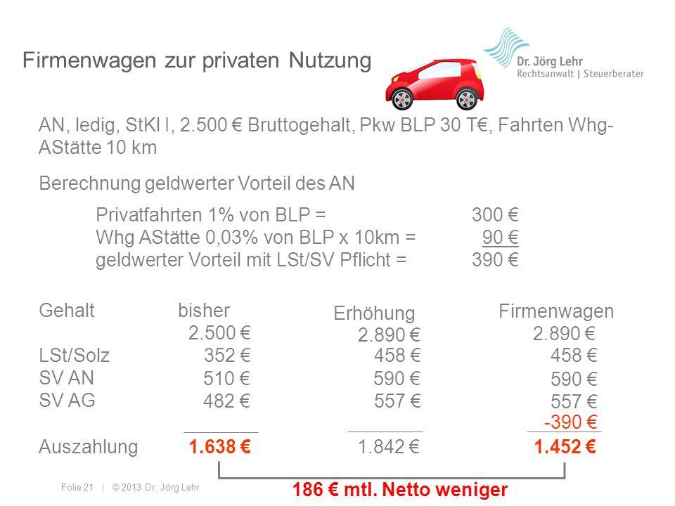 Firmenwagen zur privaten Nutzung