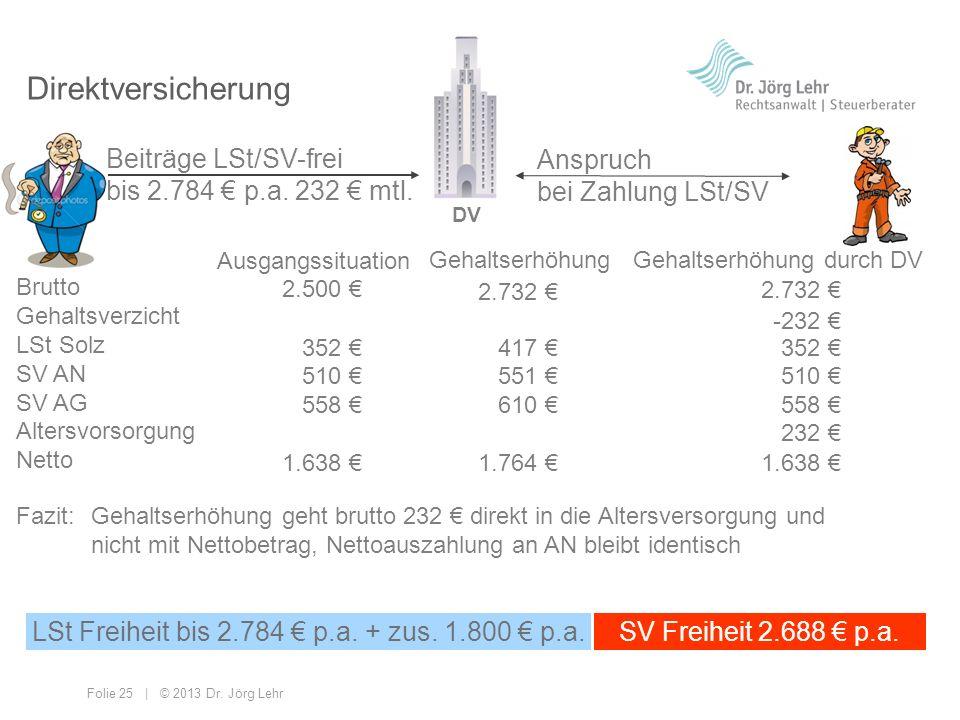 LSt Freiheit bis 2.784 € p.a. + zus. 1.800 € p.a.