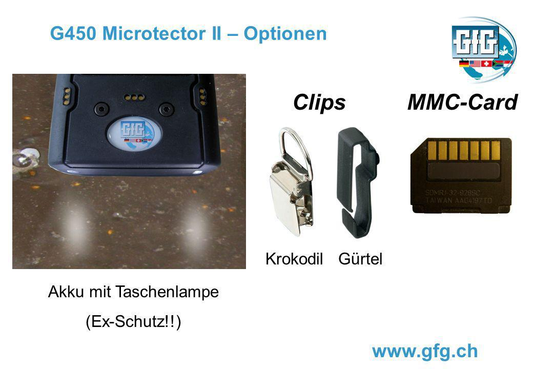 G450 Microtector II – Optionen