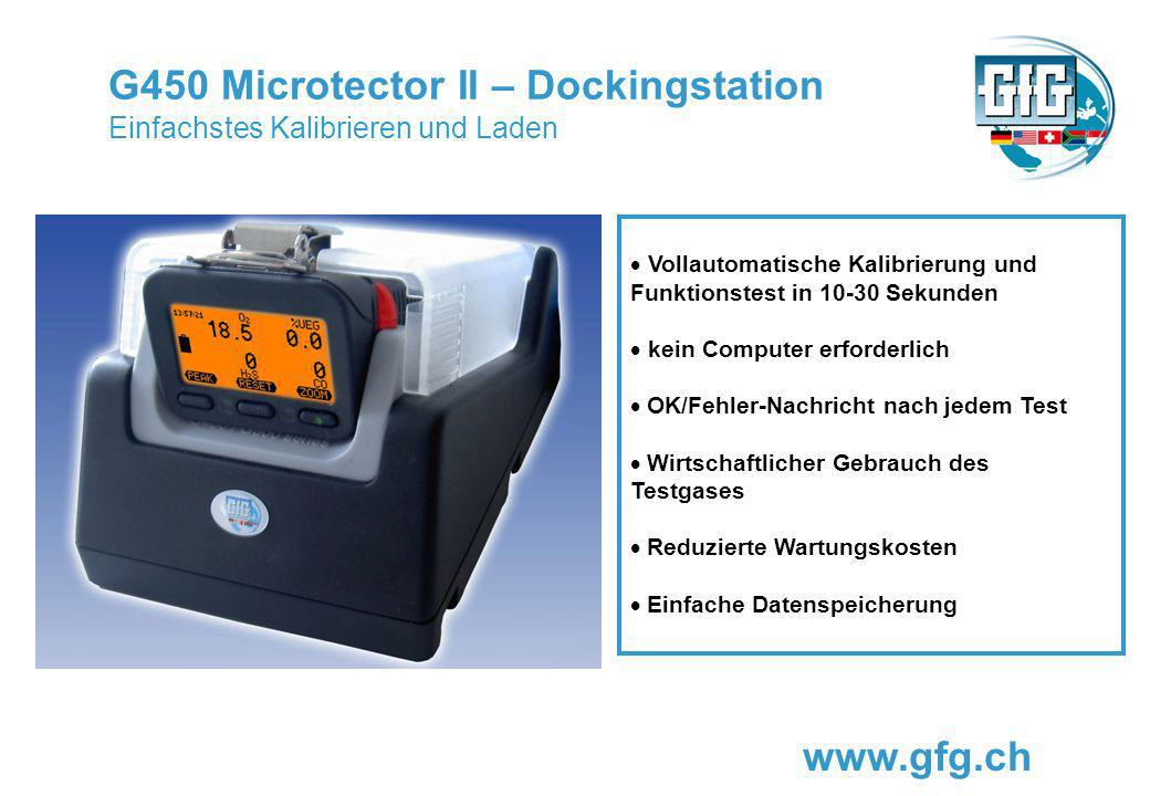 G450 Microtector II – Dockingstation