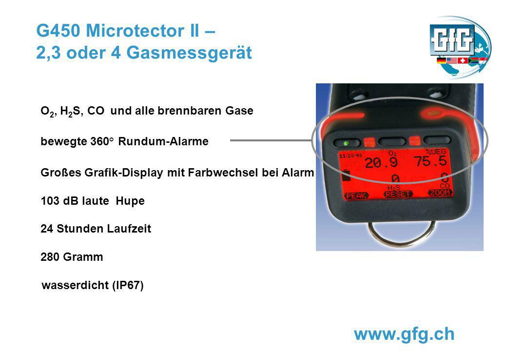 G450 Microtector II – 2,3 oder 4 Gasmessgerät