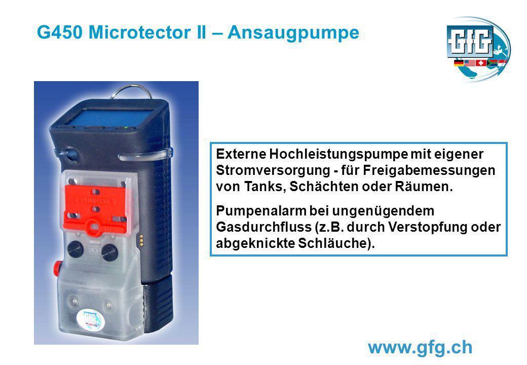 G450 Microtector II – Ansaugpumpe