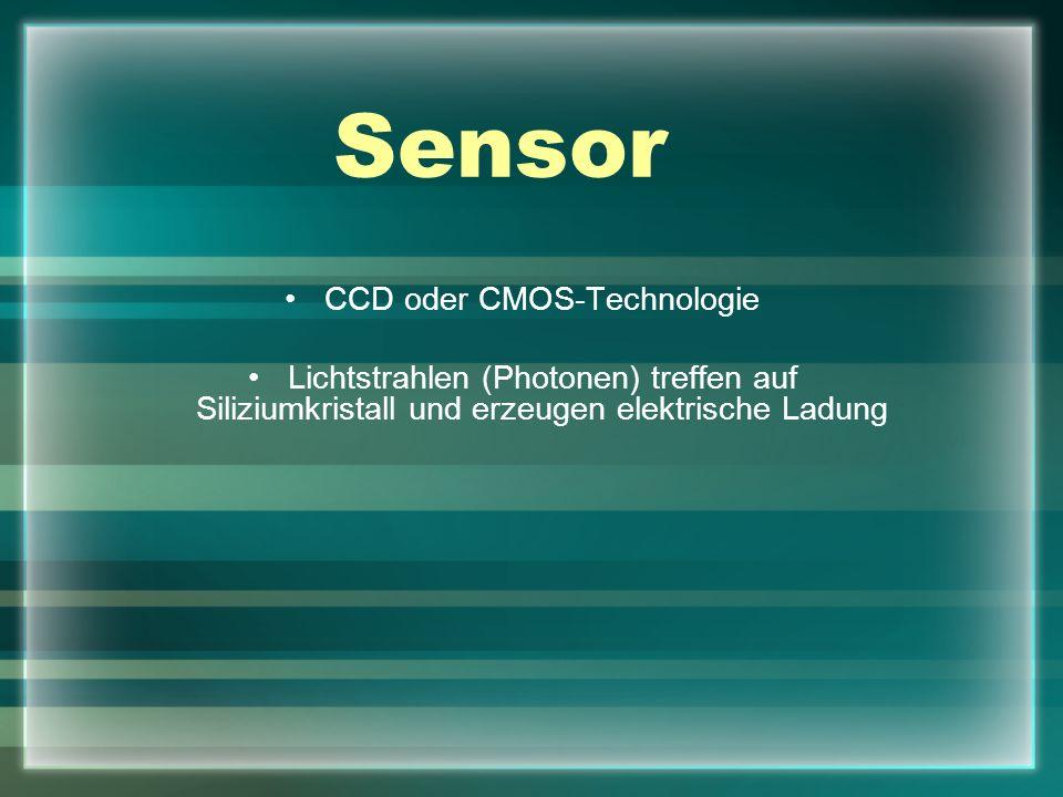 CCD oder CMOS-Technologie