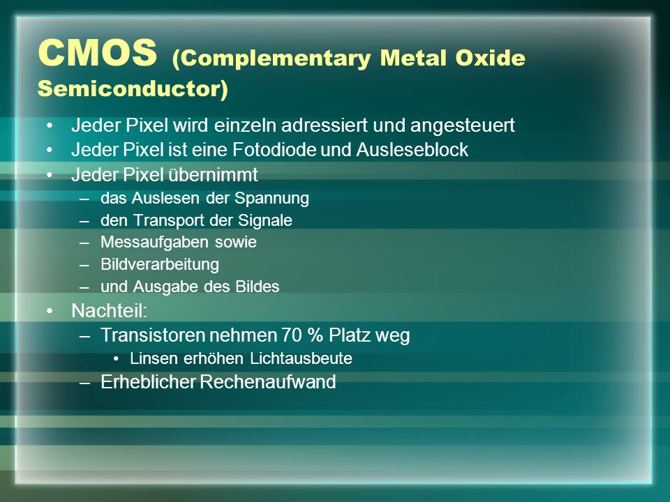 CMOS (Complementary Metal Oxide Semiconductor)