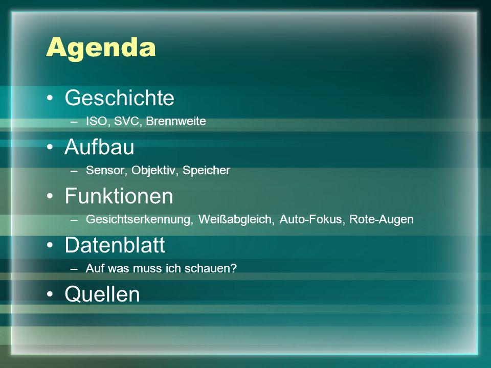 Agenda Geschichte Aufbau Funktionen Datenblatt Quellen