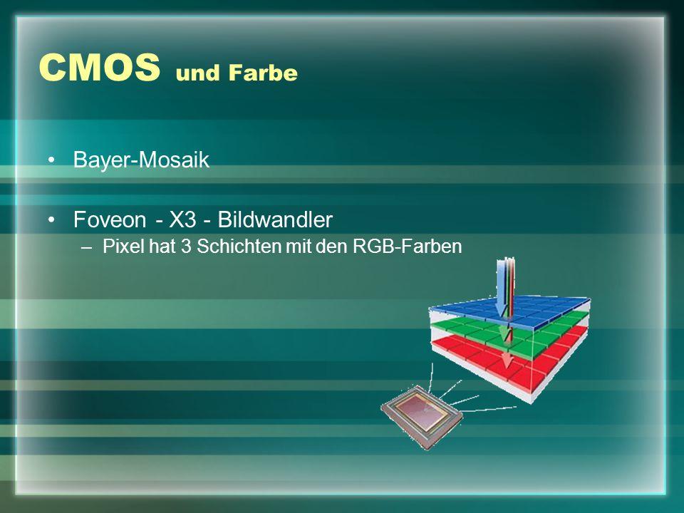 CMOS und Farbe Bayer-Mosaik Foveon - X3 - Bildwandler