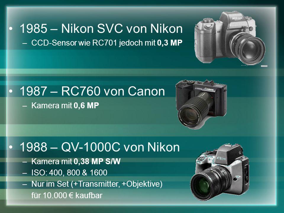 1985 – Nikon SVC von Nikon 1987 – RC760 von Canon