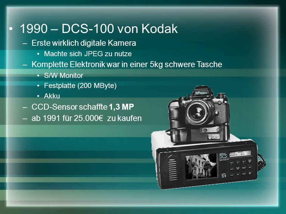1990 – DCS-100 von Kodak Erste wirklich digitale Kamera