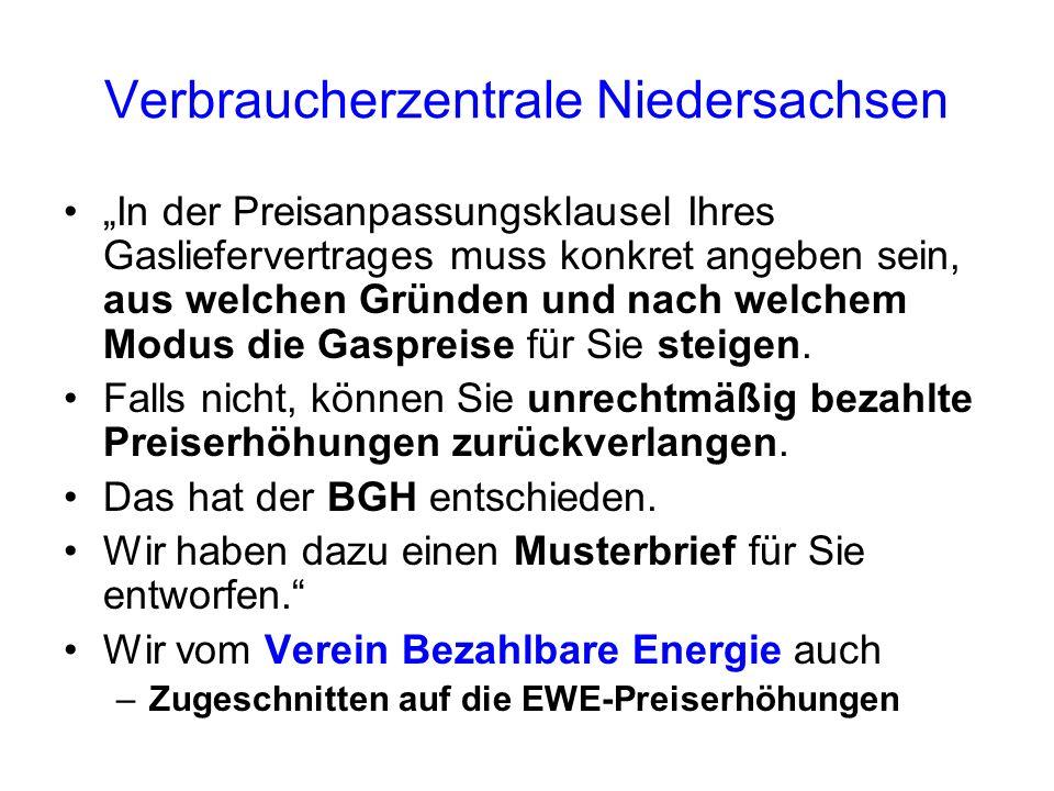 Verbraucherzentrale Niedersachsen