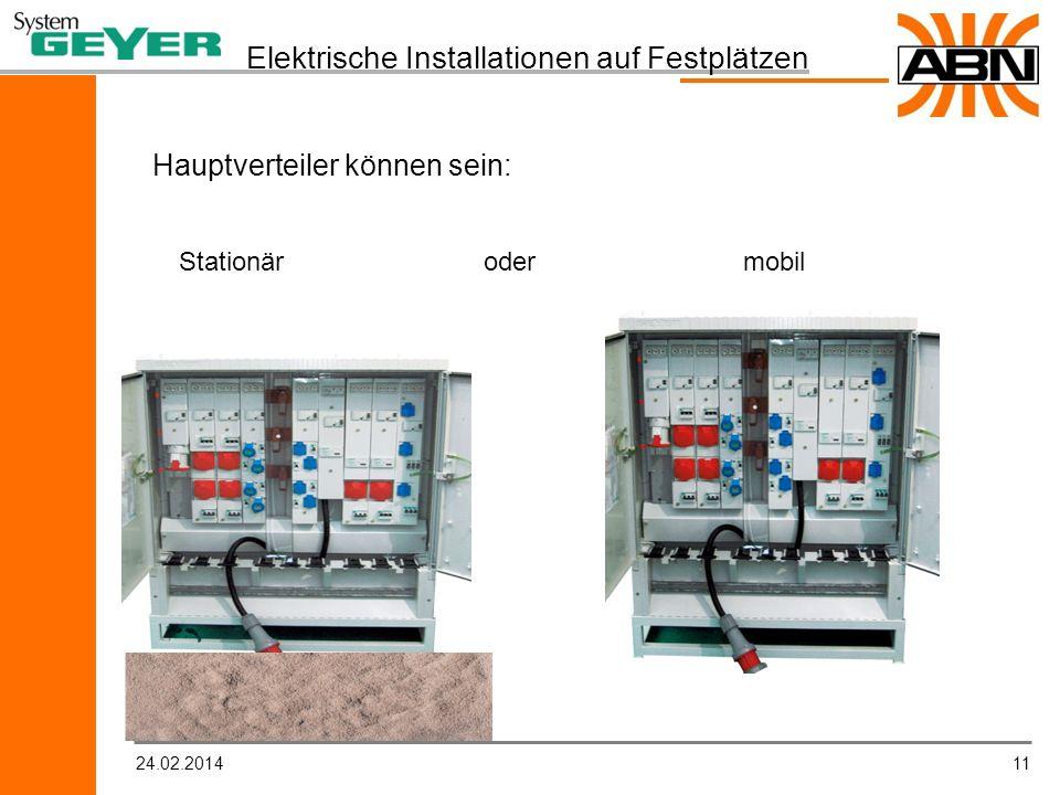 Elektrische Installationen auf Festplätzen