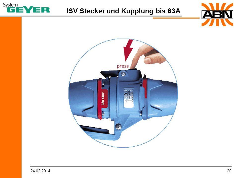 ISV Stecker und Kupplung bis 63A