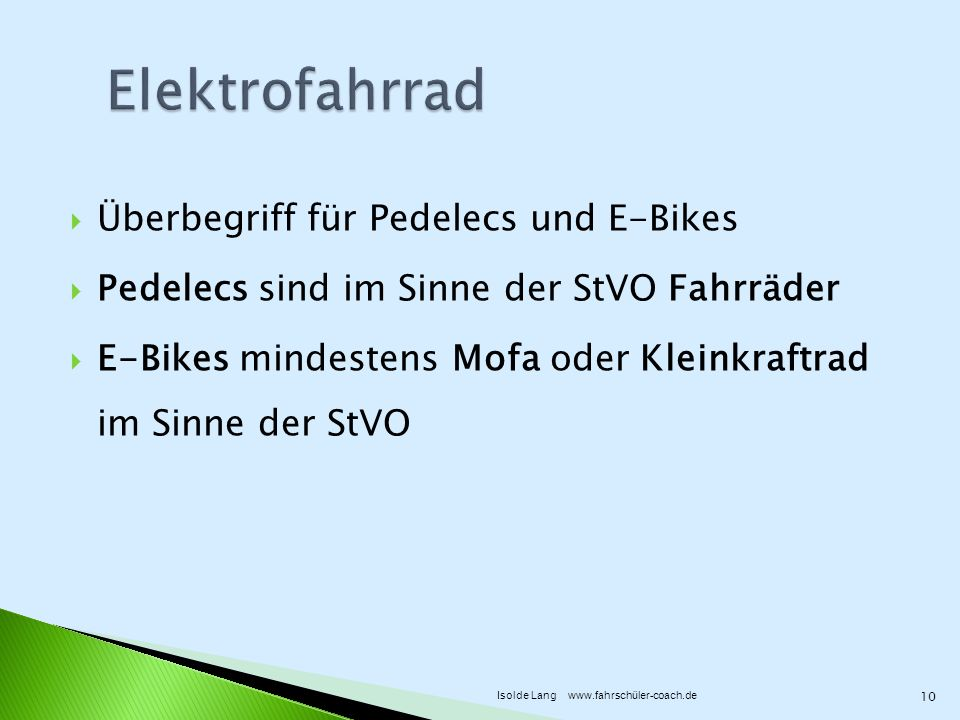 Elektrofahrrad Überbegriff für Pedelecs und E-Bikes