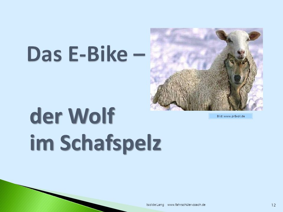 Das E-Bike – der Wolf im Schafspelz Bild: www.pr8voll.de