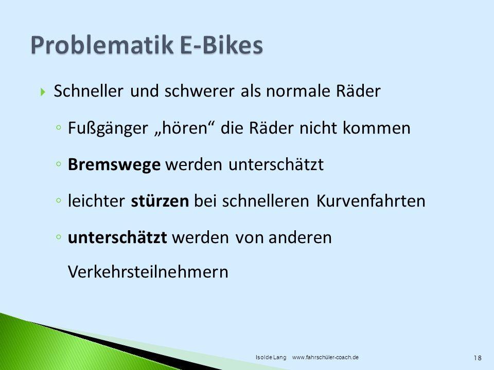 Problematik E-Bikes Schneller und schwerer als normale Räder