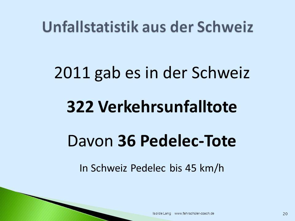 Unfallstatistik aus der Schweiz