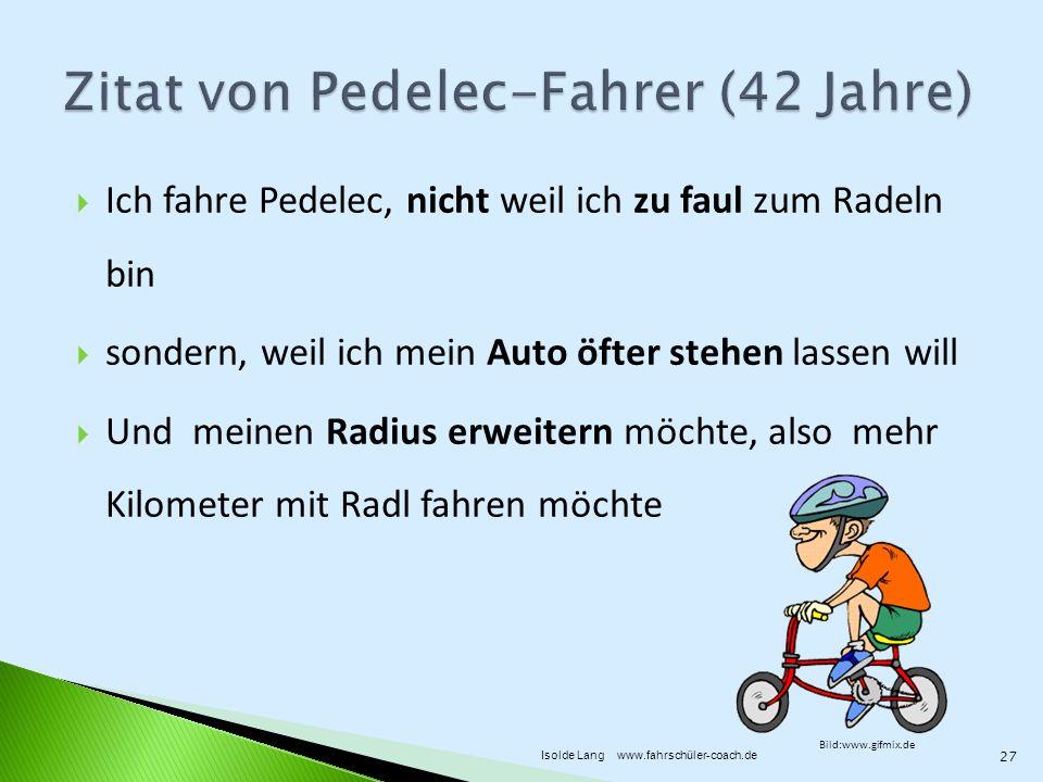 Zitat von Pedelec-Fahrer (42 Jahre)