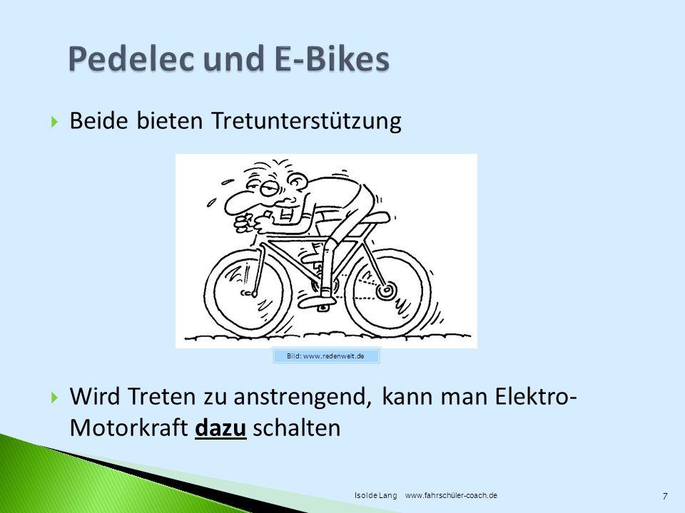 Pedelec und E-Bikes Beide bieten Tretunterstützung