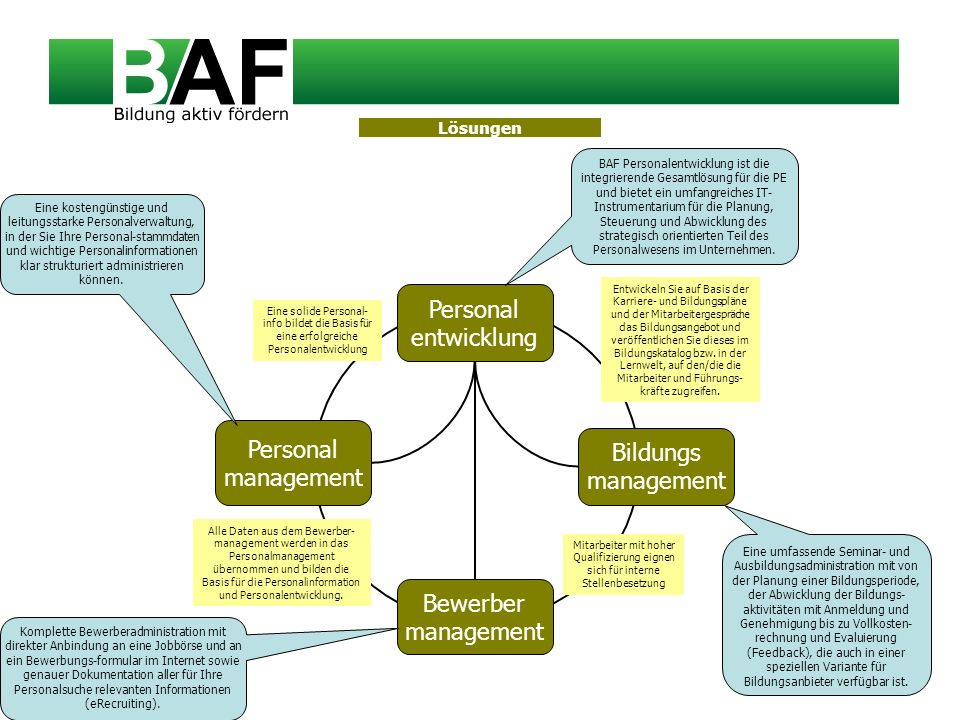 Personal entwicklung Personal management Bildungs management