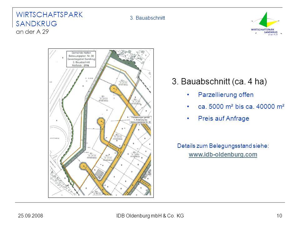 3. Bauabschnitt (ca. 4 ha) WIRTSCHAFTSPARK SANDKRUG an der A 29