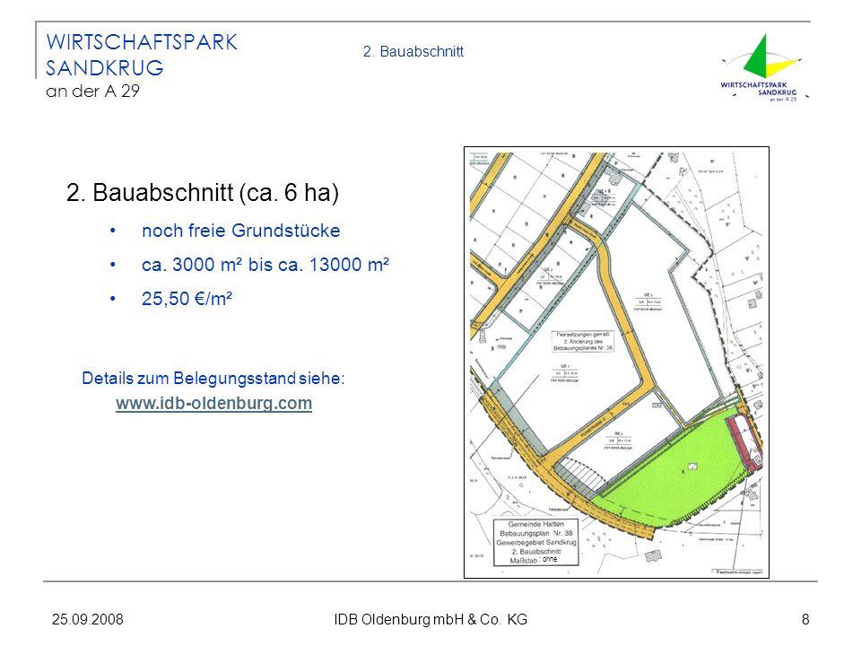 2. Bauabschnitt (ca. 6 ha) WIRTSCHAFTSPARK SANDKRUG an der A 29
