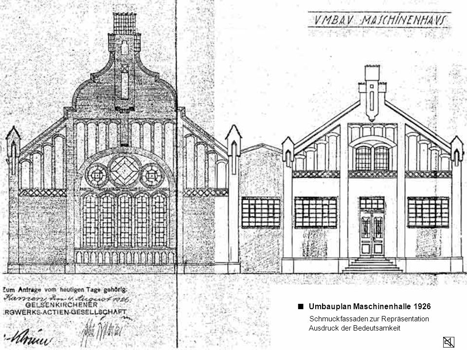 ■ Umbauplan Maschinenhalle 1926