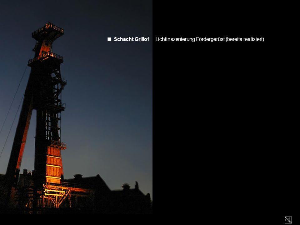 ■ Schacht Grillo1 Lichtinszenierung Fördergerüst (bereits realisiert)