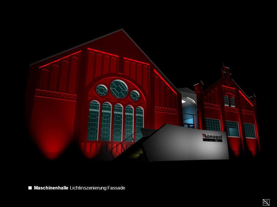 ■ Maschinenhalle Lichtinszenierung Fassade