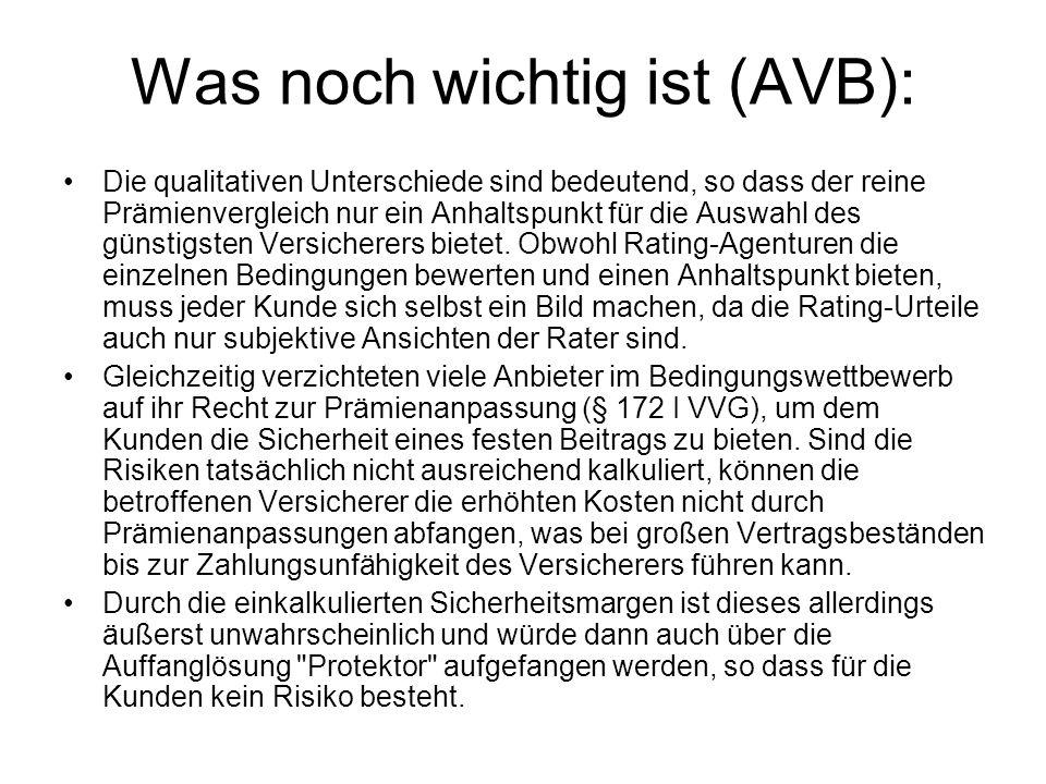 Was noch wichtig ist (AVB):