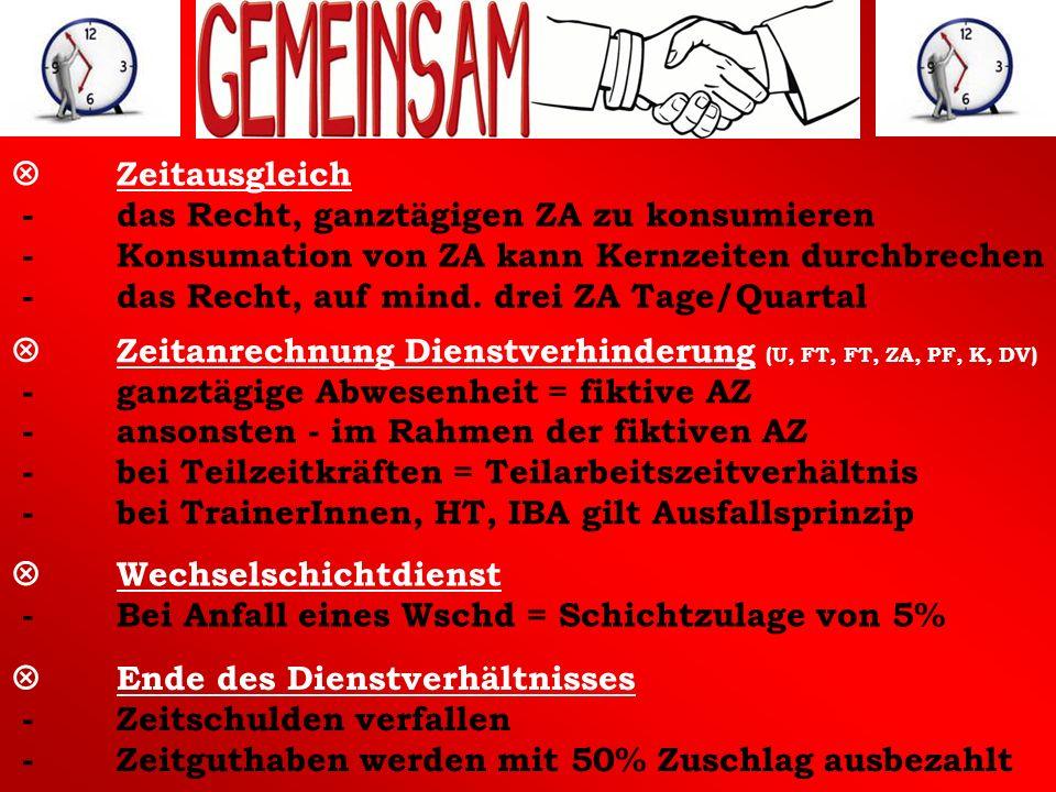 V Wechselschichtdienst - Bei Anfall eines Wschd = Schichtzulage von 5%