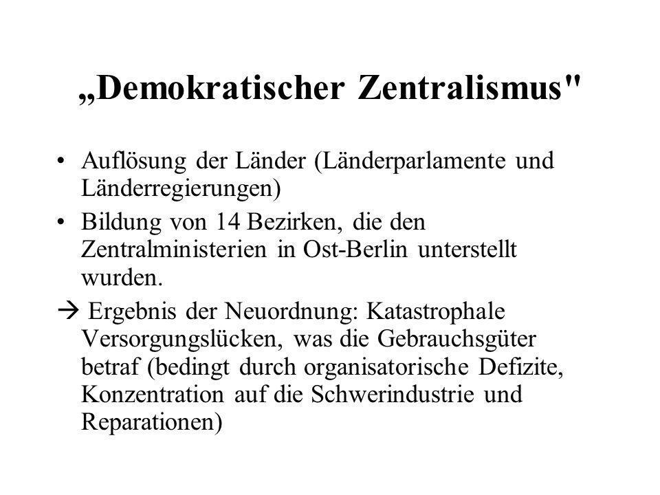 """""""Demokratischer Zentralismus"""