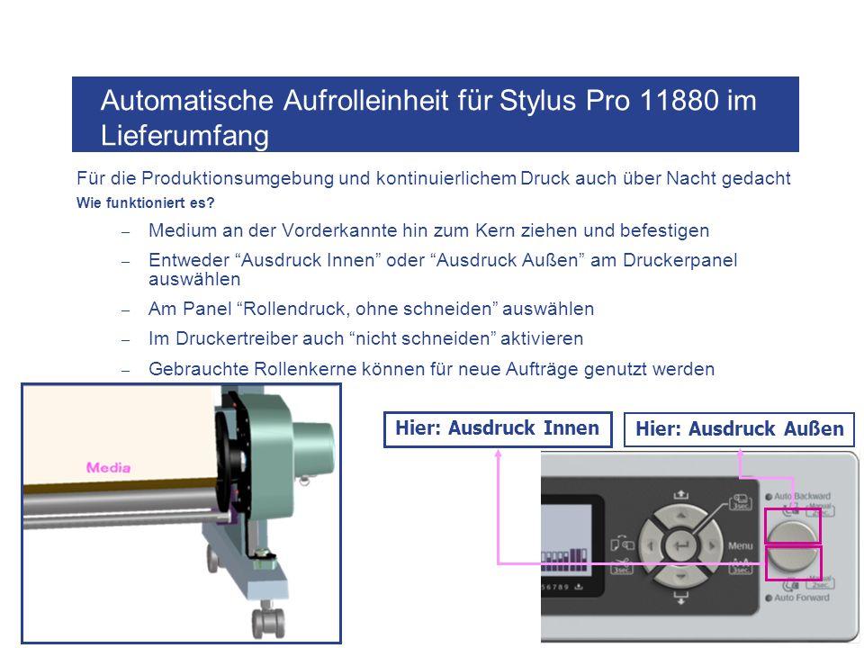 Automatische Aufrolleinheit für Stylus Pro 11880 im Lieferumfang