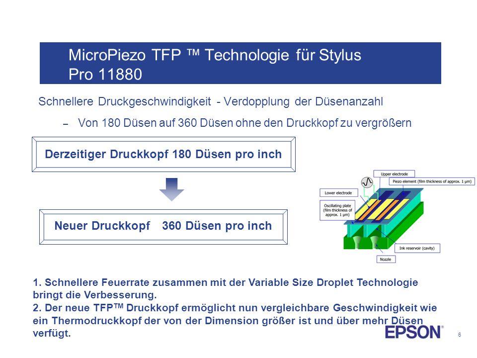 MicroPiezo TFP ™ Technologie für Stylus Pro 11880