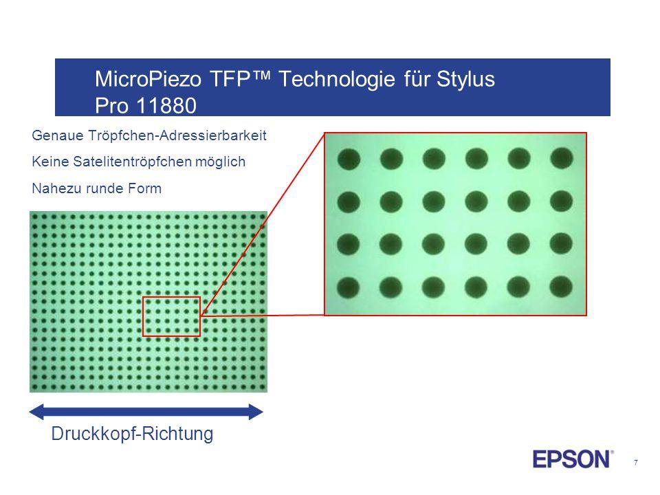 MicroPiezo TFP™ Technologie für Stylus Pro 11880