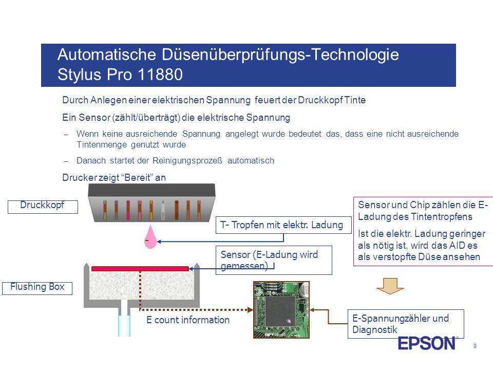 Automatische Düsenüberprüfungs-Technologie Stylus Pro 11880