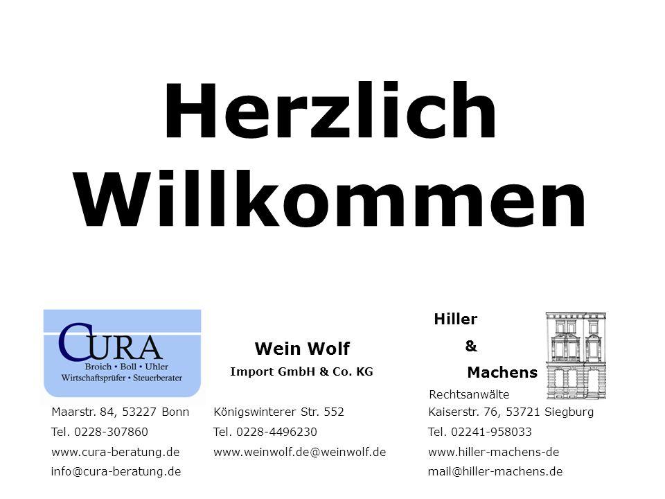 Herzlich Willkommen Wein Wolf & Machens Hiller Import GmbH & Co. KG