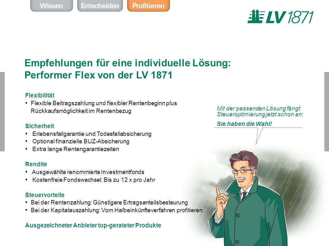 Empfehlungen für eine individuelle Lösung: Performer Flex von der LV 1871