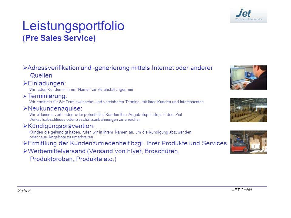 Leistungsportfolio (Pre Sales Service)