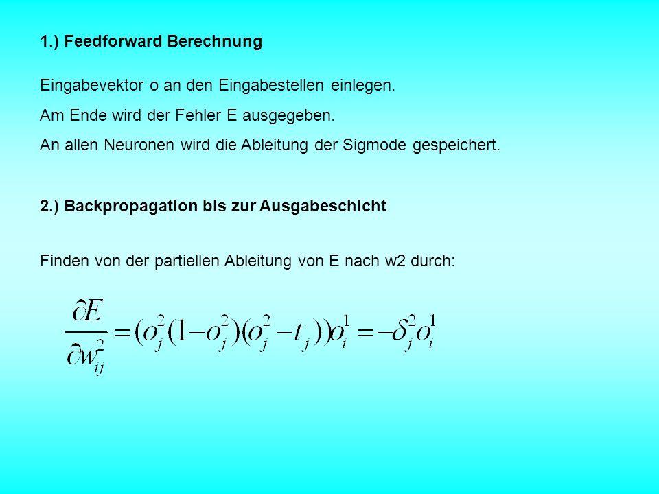 1.) Feedforward Berechnung