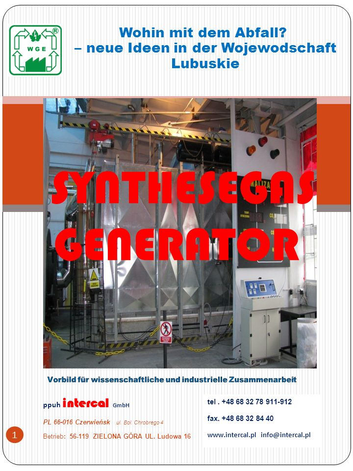 SYNTHESEGAS GENERATOR