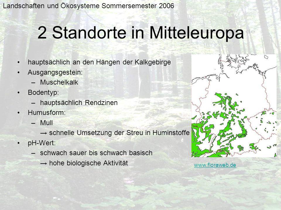 2 Standorte in Mitteleuropa