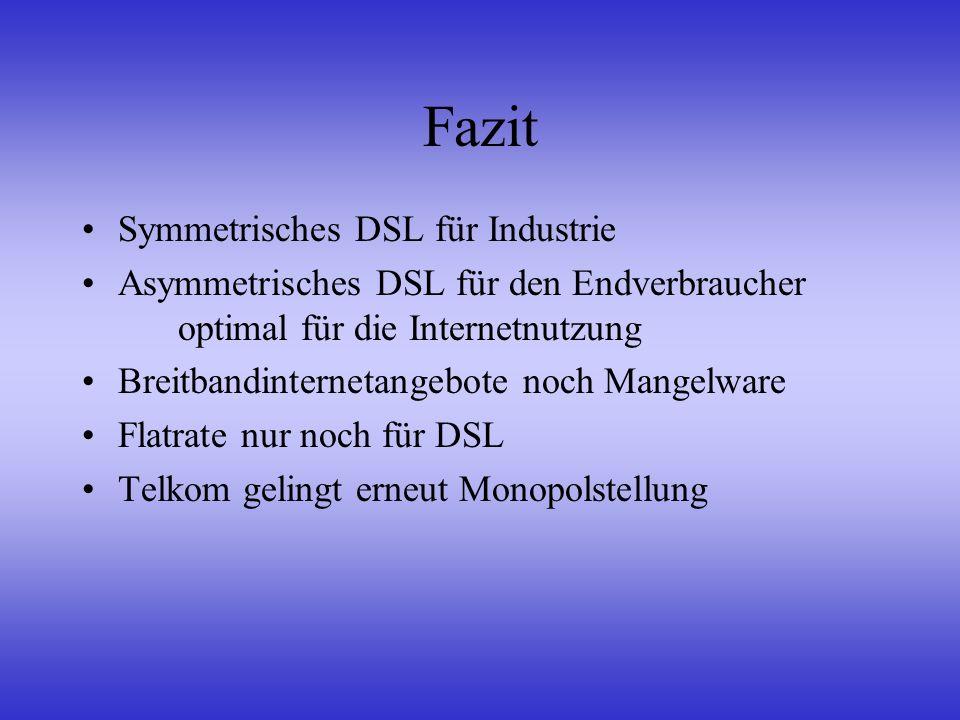 Fazit Symmetrisches DSL für Industrie
