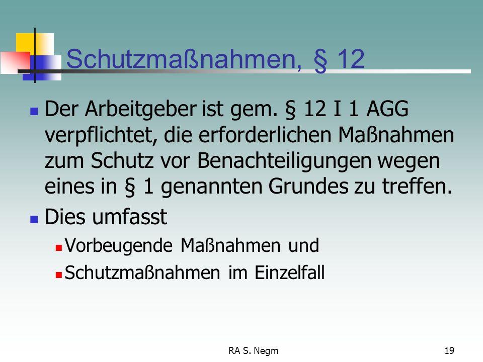 Schutzmaßnahmen, § 12
